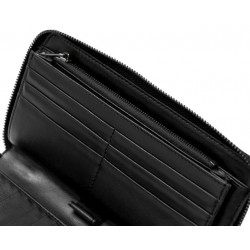 Lot of 3 Genuine Leather Women's Wallets Long Black Multi Compartment Travel