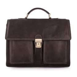 MAR1010 LEATHER BRIEFCASE 3...