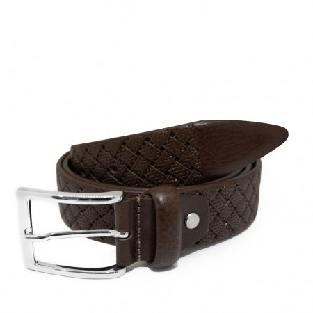 MEN'S BELT WITH DOUBLE BRAIDED CHECK...