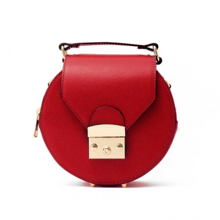 GIFTY Round leather handbag with...