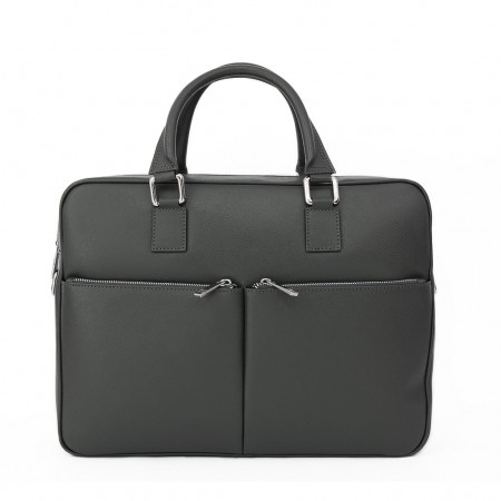 Sandro Leather Briefcase with Long Strap