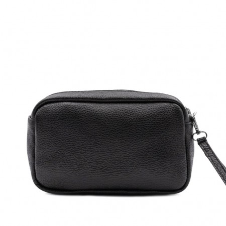MANUEL Leather Pouch Bag with Pocket