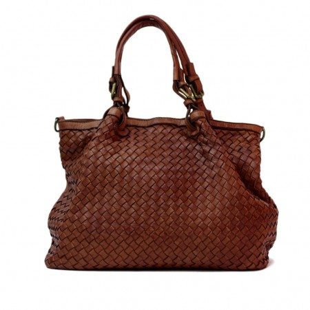 GRAZIA Shoulder bag in woven real...