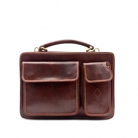 Mar214 Small Leather Briefcase with...