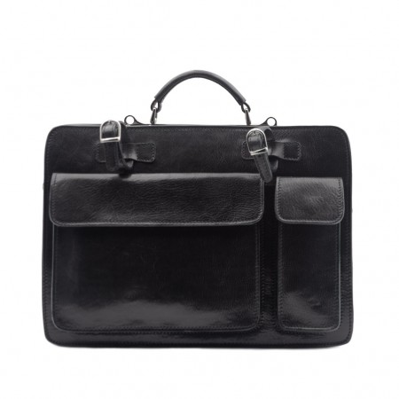 Mar214 Large Leather Briefcase with...