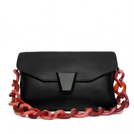 CLARA Bag with short resin handle and...