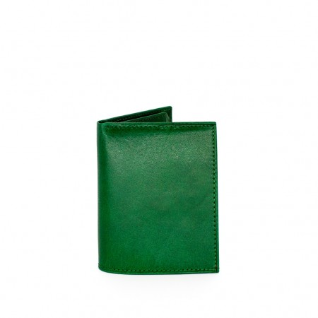 Compact Wallet in Double Flap Leather