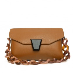 CLARA CHAIN LEATHER HANDBAG