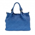 GRAZIA Shoulder bag in woven real leather