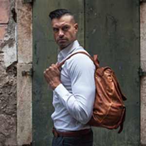 Genuine leather men's bags - Made in Italy